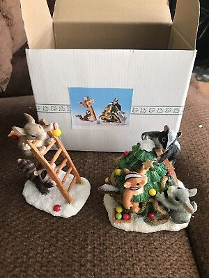 """Charming Tails """"Trimming the Tree"""" Fitz and Floyd Figurine"""
