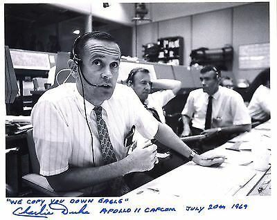 Astronaut Archives Offers Apollo 11 Famous Words Signed Charlie Duke Nasa Glossy