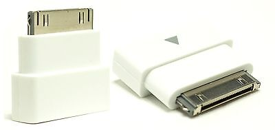 For iPod iPhone 4 4S White Extension Dock Extender 30pin Adapter