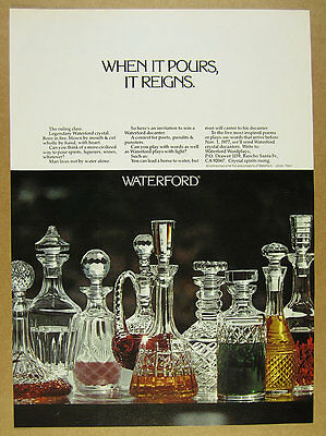 1977 Waterford Cyrstal Decanters photo Write a Poem contest vintage print Ad