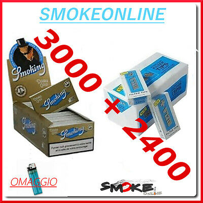 Cartine Smoking Oro doppie Gold Corte 3000e2400  Filtri Rizla UltraSlim 5,7 mm