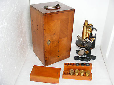 ANTIQUE  CARL  ZEISS JUG  HANDLE  MICROSCOPE  Nr.44011, c.1905
