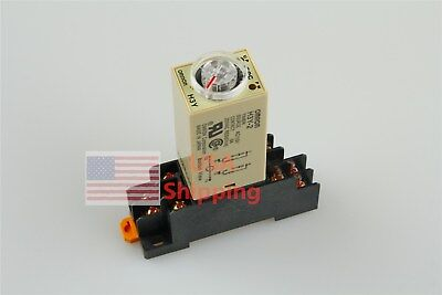 New AC 110V H3Y-2 Delay Timer Time Relay 0-10 Second 110VAC & Base