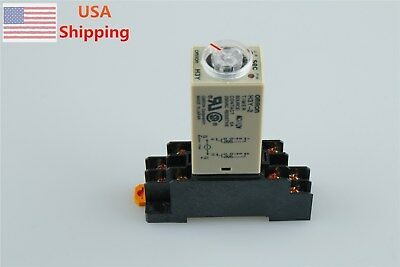 1 Set Base + Time Timer Relay 8pin H3Y-2 H3Y AC110V 5A 1.0-30Seconds 30S