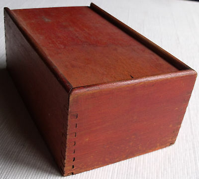Dovetailed Red Box With Slide Lid