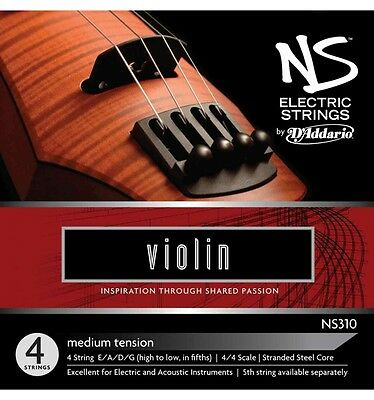 D'addario Ns 310 Electric strings - Jeu de cordes Violon électrique 4/4
