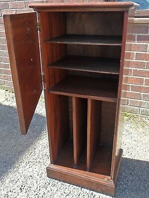 Antique Regency George III style mahogany record filing music storage cabinet