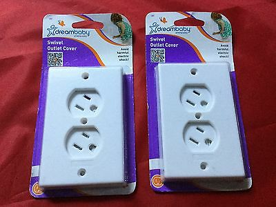 DreamBaby SWIVEL OUTLET COVER Toddler Child Safety White Model L861 LOT 2 NEW