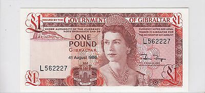 1988 Government of Gibraltar 1 Pound Note