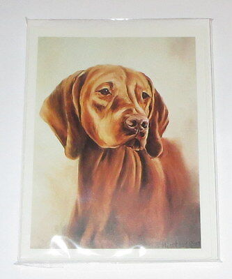 Vizsla Dogs Notecards Envelopes Set of 6 New Puppy Best Friends Brown