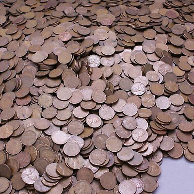 1940-1958 Lincoln Wheat Cent Lot of 500 Average Circulated Cheap