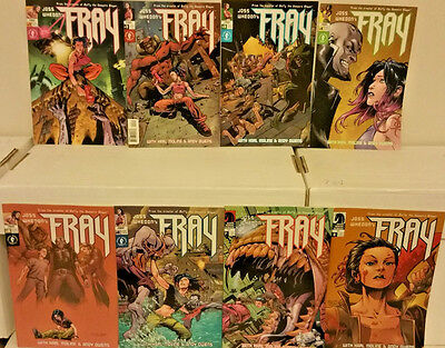Joss Whedon's Fray 1 2 3 4 5 6 7 8 Dark Horse Comics Lot NM-