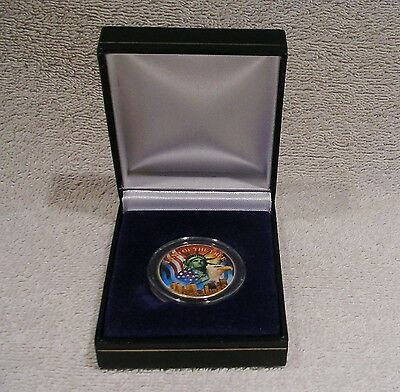 Colorized 1963 Franklin Half Dollar - Land of the Free - 90% Silver Coin
