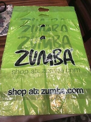 ⭐️⭐️4 Authentic Zumba Plastic Bags From Convention
