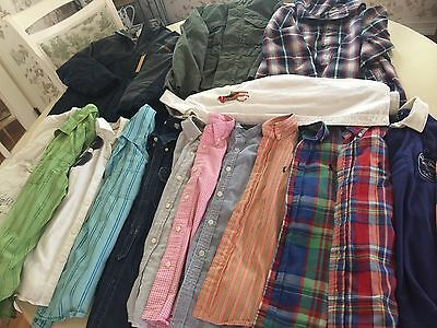 Lot Of 18 Used Gap, Ralph Lauren 6-7 Boy's Clothing Jacket, Shirts, And Pants