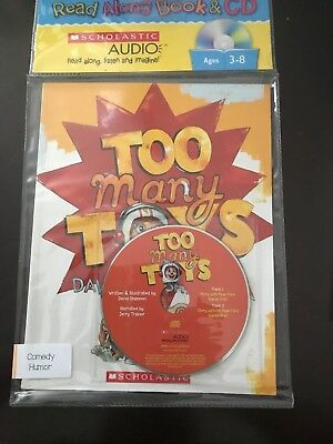 Too Many Toys by David Shannon Audio book CD New in package Scholastic 2009