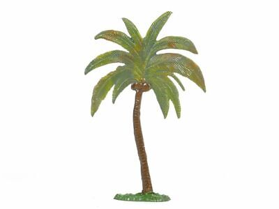 Hornung Art Miniatures Large Palm Tree Curved Trunk 1LP Metal Cast Scenery