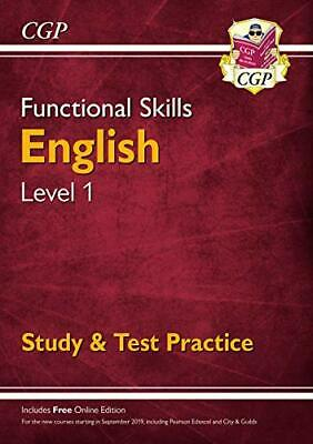 Functional Skills English Level 1 - Study & Test Practice (CGP F... by CGP Books
