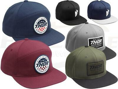 Thor MX Snapback 5-Panel Hat Adjustable Adult Size Casual Cap Motocross Racing