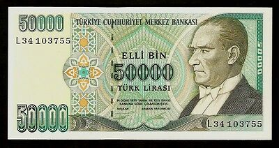 Turkey 50 000 Liras 1970 UNC