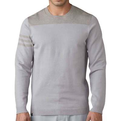 New Adidas Golf 3-Stripes Men's Crewneck Sweater - Choose From 2 Colors!