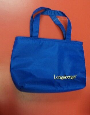 Longaberger Blue Tote Lunch Carry Bag