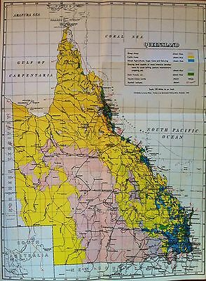 Coloured Map of Land Use in Queensland 1958