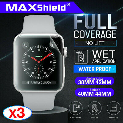 MaxShield Screen Protector for Apple Watch Series 2/3/4/5 38/42mm 40/44mm iWatch