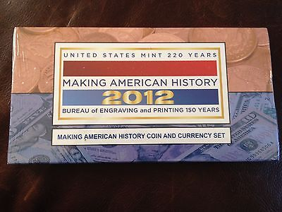 2012 MAKING AMERICAN HISTORY COIN AND CURRENCY SET, Sealed