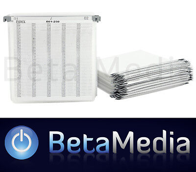 200 x Plastic DVD / CD Sleeves with Bridge and Index