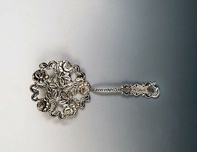 c1900 American Sterling Silver Floral Bonbon Serving Spoon Alice Mono