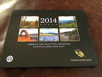 2014 America The Beautiful Quarters Uncirculated 10 Coin Set