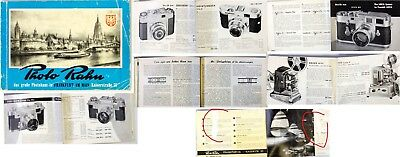 Photo Rahn camera Shop, Frankfurt, Catalog 1960's