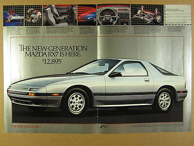 1986 Mazda RX-7 RX7 Sport Package & GXL color photos vintage print Ad