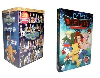 Digimon: The Complete Series Seasons 1-5 (DVD, 40-Disc Set) 1 2 3 4 5