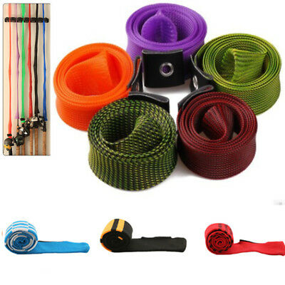 Expandable Mesh/Cloth Fishing Rod Pole Sleeve Cover Glove Protector Jacket Wrap