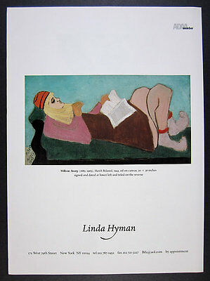 2002 Milton Avery March Relaxed painting Linda Hyman gallery vintage print Ad