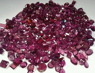 100% Natural Rhodolite Garnet from Afghanistan, mixed seting size for Jewlery.