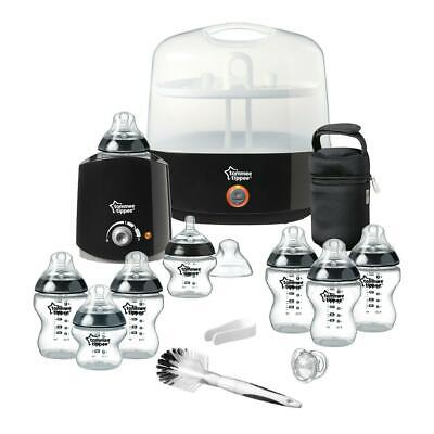 Tommee Tippee Closer To Nature Essentials Kit (Black): Includes Steriliser, Bott