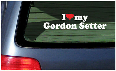I Love My Gordon Setter Sticker Vinyl Decal Car Window Fun dog puppy