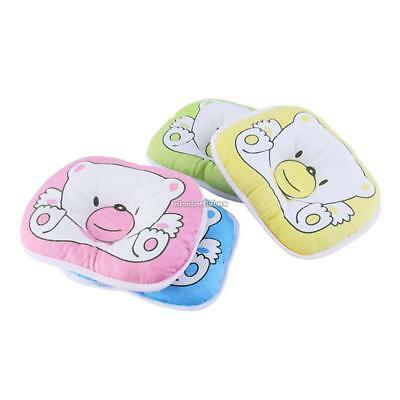 Newborn Infant Baby Bear Pattern Pillow Support Cushion Pad Prevent Flat N98B