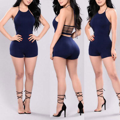 Women Clubwear Jumpsuit Romper Trousers Playsuit Sleeveless Party Bodycon USA