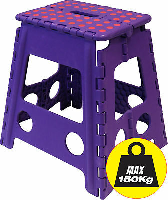 Wham Tall Folding Step Stool Holds Weight up to 150 Kilos !! Folds Away Neatly
