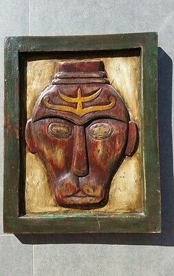 Indonesian Tribal Art Wood Carved Picture Hanging