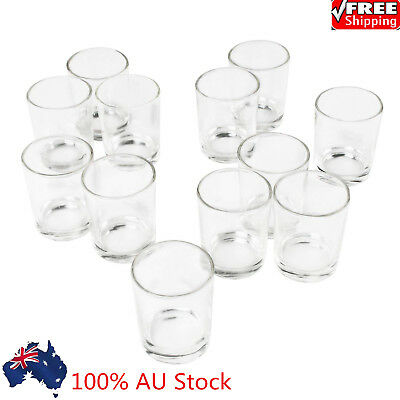 Clear Glass Votive Tealight DIY Handmade Candle Holder Wedding Party Decor Cups