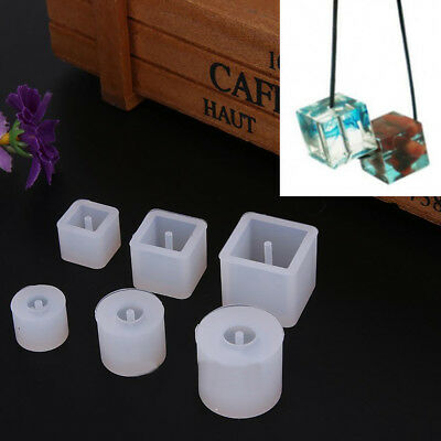 6pcs Crystal Silicone Necklace Pendant Jewelry Mold Making DIY Resin Craft  New