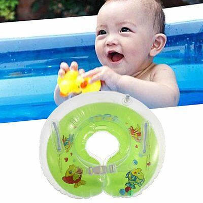 Baby Kids Infant Colorful Swimming Neck Float Inflatable Tube Ring Safety NR