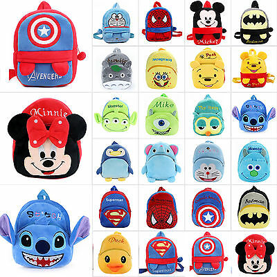 Kids Boys Girl Plush Backpack Children Cartoon Bookbags School Bag Rucksack Pack