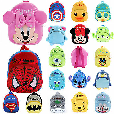 Kids Boys Girls Cartoon Cute Plush Backpack Shoulder School Bag Rucksack Bookbag