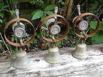3 x SERVANTS MAID BUTLER BELL BRASS BELLS